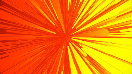 Animation flying light streaks and lines. Abstract background with technology of glow particles. Colorful cartoon fly, jump, fight speed background seamless loop, Abstract red and yellow speed Backgro