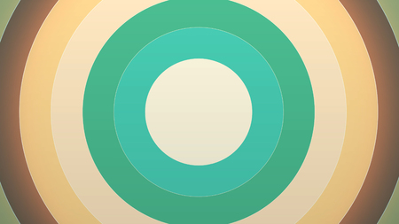 Circle transitions. Cricle appearance, trickling, Animation of appearing colorful circles like a transition