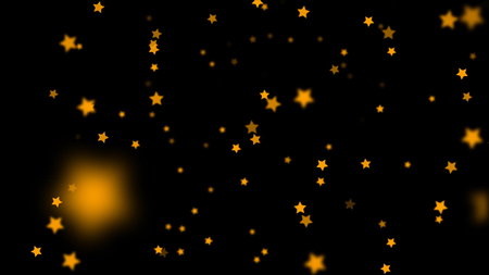 Falling Stars cartoon over black background very easy to use them over your videos using alpha channel, stars rain effect, christmas and celebration concept Zdjęcie Seryjne