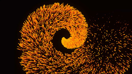Abstract animation of fire burst. Inferno fire isolated on black background