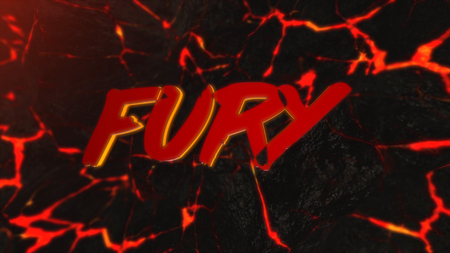 Abstract background of hot rock with cracks. Animation. Abstract background with fury inscription on lava background