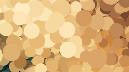 Cyclic animationn with points of light flowing, yellow, brown, beige bokeh background. Animation. Gradient colorful particles in motion, seamless loop.