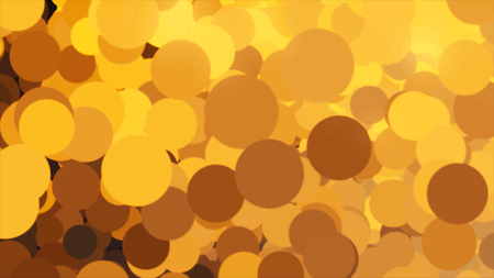 Beautiful bubbles flying endlessly from left to right and changing colors. Animation. Chaotic orange and black circles flowing and blinking, seamless loop. 版權商用圖片