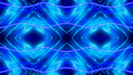 Glowing dynamic blue and white kaleidoscope, seamless loop. Animation. Beautiful changing magnetizing figures, abstract colorful background. Imagens - 124087605