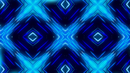 Glowing dynamic blue and white kaleidoscope, seamless loop. Animation. Beautiful changing magnetizing figures, abstract colorful background. Imagens - 124087610