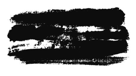 Abstract animation of black paint brush stroke on a white piece of paper. Minimalistic black and white animation brush stroke on a white background