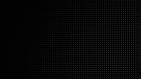 Abstract spotlight illuminating black dotted surface from left to right, monochrome. White light beam is directed at the dark wall with small particles.