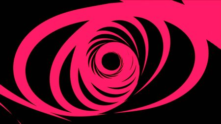 Abstract animation of bright colorful hypnotic tunnel with circles rotating in different planes on black background. Animation. High definition backdrop motion video clip Banque d'images - 128898894