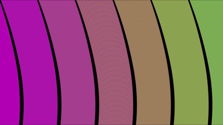 Graphic design of striped background moving waves. Animation. Abstraction of colorful moving wavy striped background.