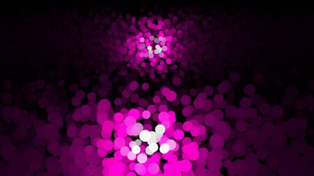 Colorful abstraction of shimmering multicolored particles appearing and fading on the black background. Animation. Delightful animation of floating multi colored particles