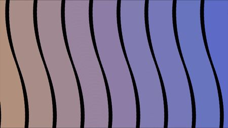 Gradient curved lines. Animation. Colorful curved lines shimmer into each other creating background. Lines move from one color to another on black background