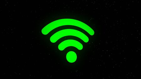 WiFi icon animation. Animation. Wi Fi icon that crumbles into rotating dots Stock fotó