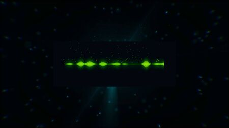 Glowing digital spectrum animation background. Animation. Abstract sound track animation.