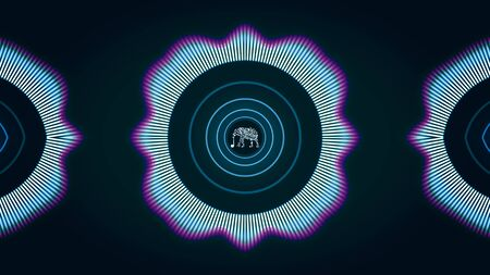 Music animation for backgrounds. Animation. Abstract sound track animation. Reklamní fotografie