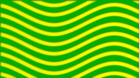 Abstract background with bright colored curved lines. Animation. Colored alternating lines moving in waves in loop. Bright colored background of hypnotic undulating stripes.