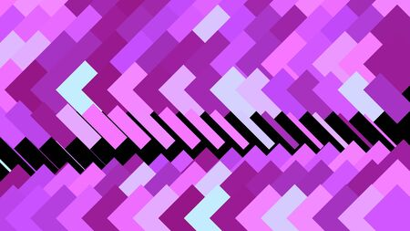 Abstract animation of colorful background of strokes and triangular shape. Animation. Background moving along rows of rectangular strokes in triangular direction.