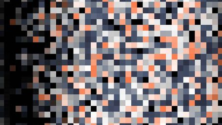Colorful pixelated flowing background, seamless loop. Animation. Abstract rows of blinking flat squares moving on black background.