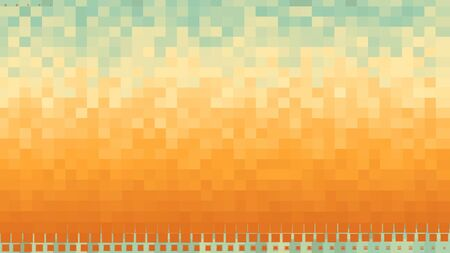 Abstract pixel block layers moving one by one, seamless loop. Animation. Colorful flat squares covering all the screen, motion graphics background.