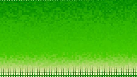 Bright color pixel background with gradient transition. Animtion. Colorful background of squares with seamless gradient transition.