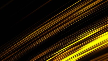 Neon halogen light straight rays flashing on black background, seamless loop. Animation. Abstract blinking yellow lines moving and blinking chaotically.