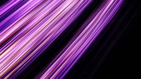 Neon halogen light straight rays flashing on black background, seamless loop. Animation. Abstract blinking purple lines moving and blinking chaotically.