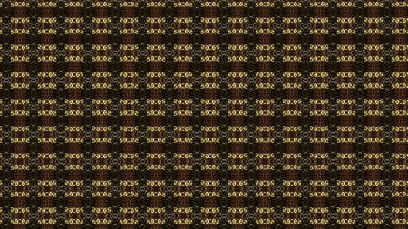 Brown kaleidoscopic pattern with the changing shapes and forms in rows, seamless loop. Animation. Numbers appear and disappear, concept of secret code. Stock fotó