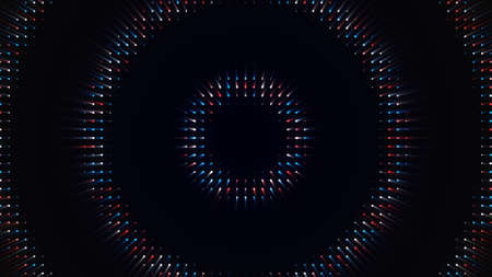 Bright hypnotic rings move from center. Animation. Plunge into trance with hypnotic animation with circles moving from center. Colored circles radiate from center on black background Stock fotó