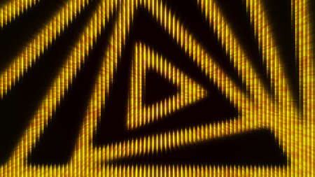 Hypnotic triangle pattern background. Animation. Diode pattern with twisting triangular spiral. Triangular diode pattern on black background