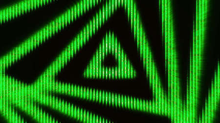 Moving triangular pattern. Animation. Diode background with moving animation of triangular spiral. Slow-moving and mesmerizing triangular spiral Stock fotó