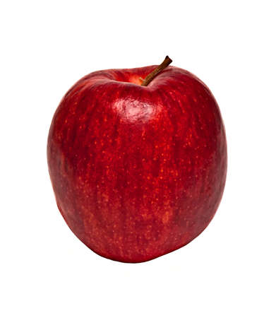 Apple of red colour separately on a white background Stock Photo