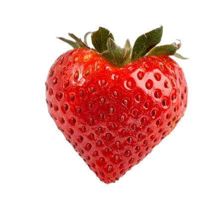 ripe: Red ripe strawberry