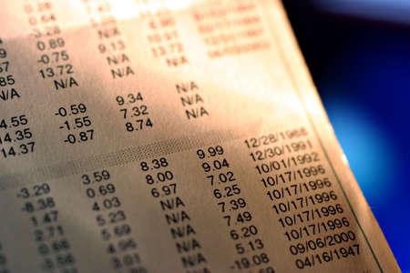 allocate: A financial report close-up.
