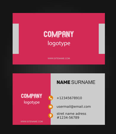 Double-sided creative business card template. Vektoros illusztráció