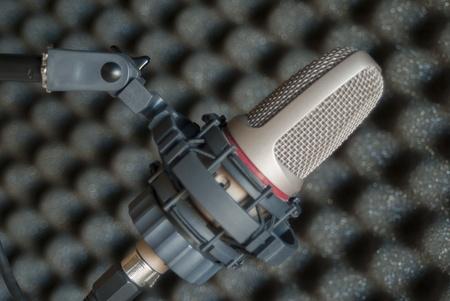 condenser: Condenser microphone in recording studio