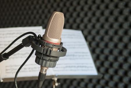 condenser: Condenser microphone and score