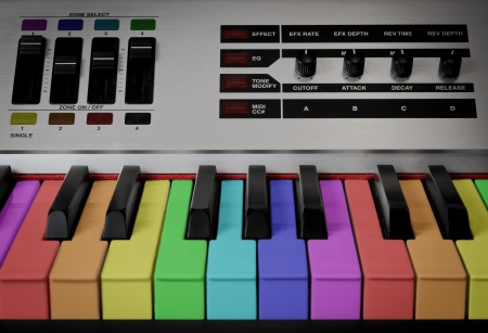 reverb: Colored keyboard with rainbow colors