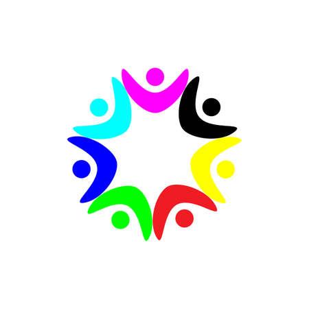 Community Logo puzzle template vector