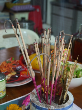 cinders: Worship by incense in chinese belief