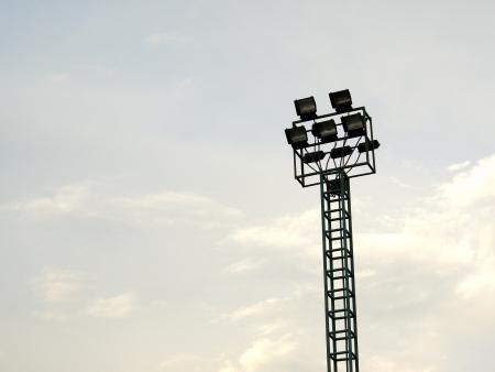 irradiate: Stadium spotlight Stock Photo