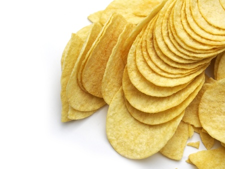 Potato chips isolated photo