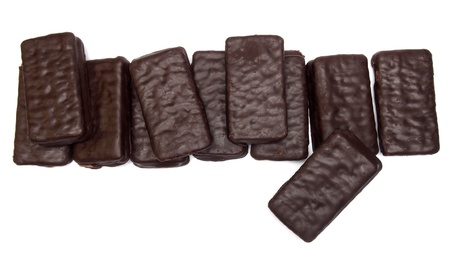 Chocolate sandwich biscuit photo
