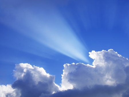 Sunbeam through the clouds