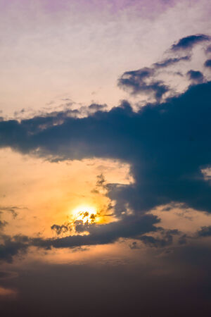 elysium: Beautiful cloud at sunset Stock Photo