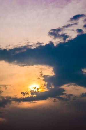 elysium: Beautiful cloud at sunset Stock Photo