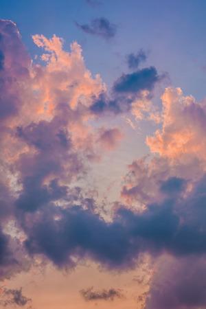 emanate: Beautiful cloud at sunset Stock Photo