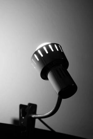 spiritless: lamp in black and white