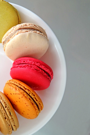 high calorie: Colorful Macarons in the dish