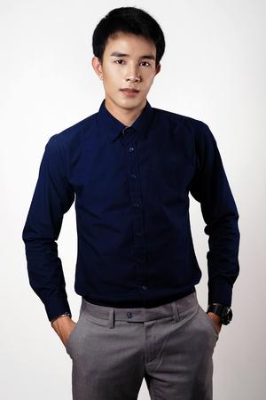 Asian man portrait in studio