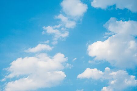 Beautiful sky with fluffy clouds Stock Photo