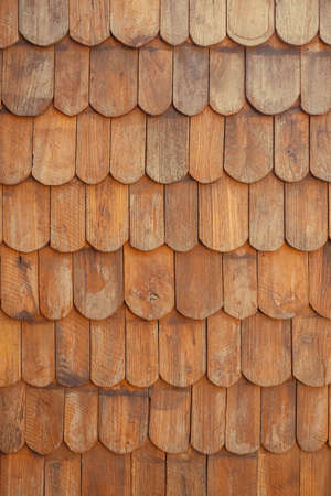 Wooden roof pattern background and texture